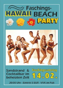 Hawaii Faschings Beach Party