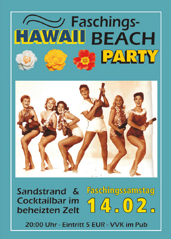 Hawaii Faschings Beach Party